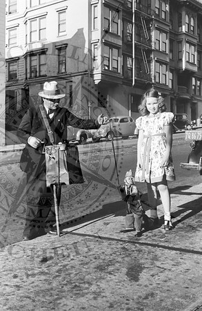 Organ Grinder, Monkey and Litttle Girl - 1938