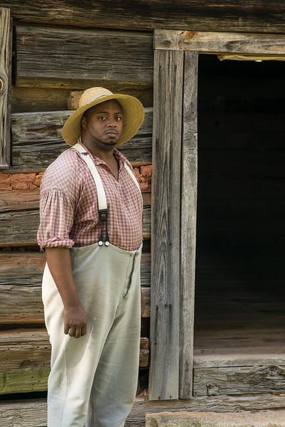 Dontavius portrays Adam the Slave at  , SC