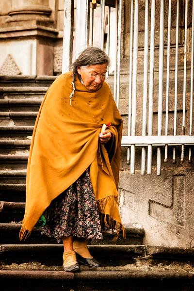 Poncho Lady in Quito, Ecuador.