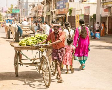 Banana Cart Man, Tanjore, India
