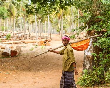 Fishing Village, near Kochin, India.