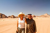 In Wadi Rum's desert with a happy Bedouin.