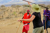 Learning to throw a spear from the Masai in Africa.