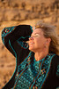 Blissfully happy in Jordan's Wadi Rum.