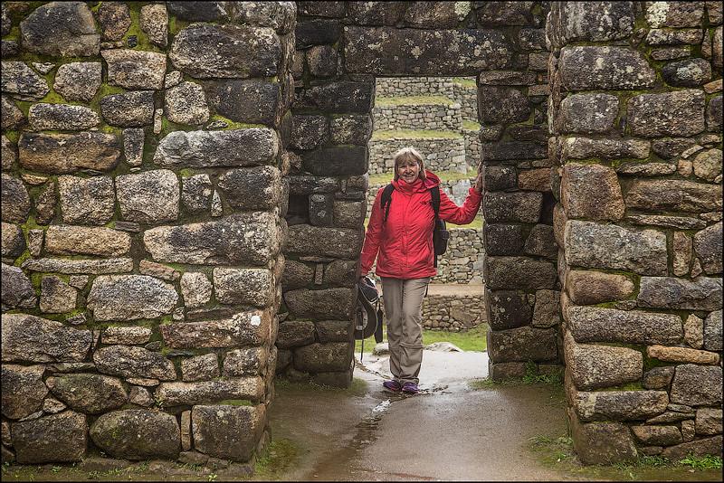 Debi Lander at Machu Picchu, Peru.