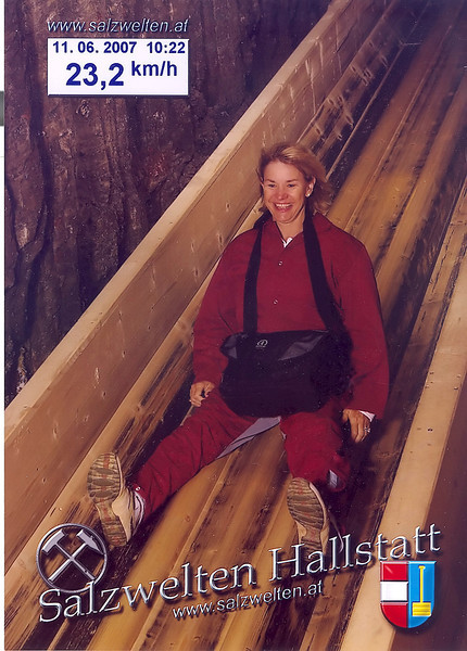 Down the chute in the Salt Mines