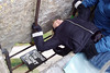 Kissing the Blarney Stone, Ireland.