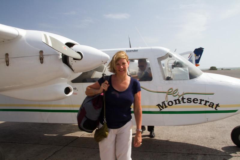 Flight to Montserrat