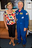 With astronaut Charlie Walker at the Kennedy Space Center, FL.