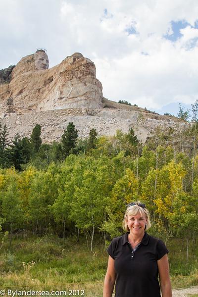 Visiting Crazy Horse Memorial in South Dakota.