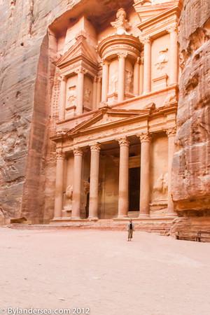 Dwarfed by the Treasury, Petra, Jordan.