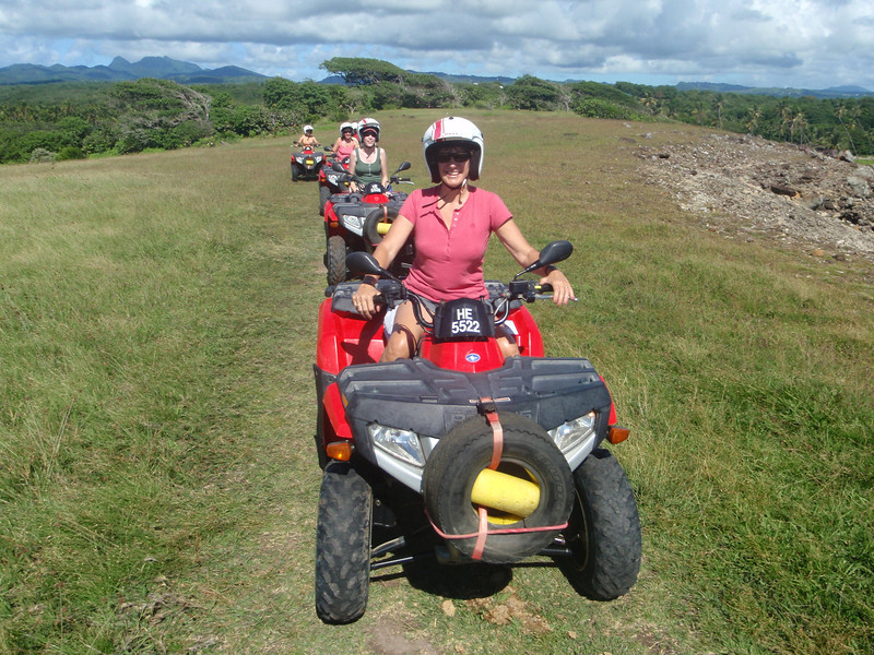Exploring St. Lucia on an ATV.