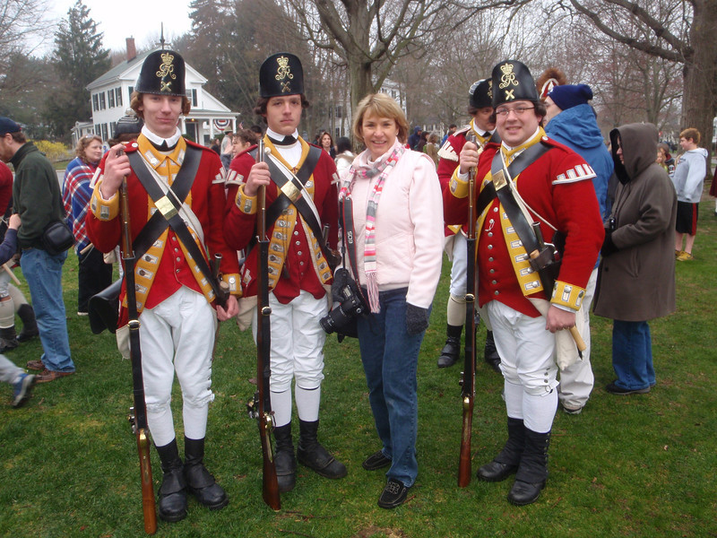 Reenactment of the Battle of Lexington, Massachusetts.