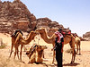With Wadi Rum Camels