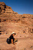 Overlooking the amphitheater in Petra.