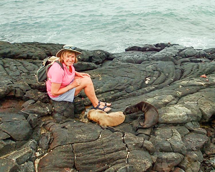 Debi with sea lions