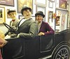 Stan and Ollie and Debi at the Laurel and Hardy Museum, Harlem, GA.