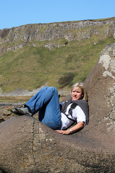 Resting at the Giant's Causeway, Northern Ireland.