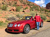 Driving a $180,000 Bentley convertible down a canyon road in Mesa, Colorado,2013.