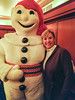 With Bonhomme at Quebec's Winter Carnival.