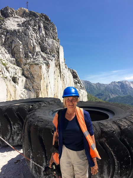 Look at the size of that tire- Carrara Marble Mines, Italy.