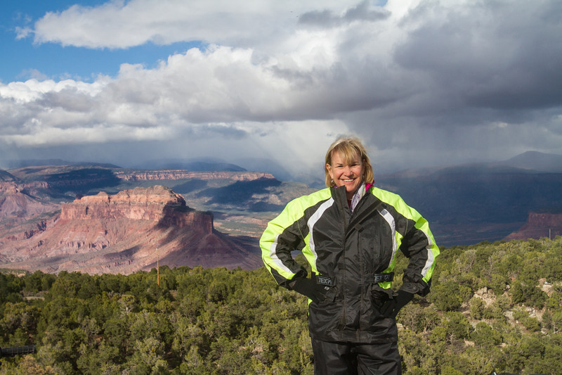 Drove an ATV to the summit of John Brown above Gateway Canyons Resort in Colorado.