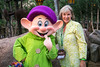 Debi Lander and Dopey at Disney