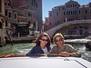 Riding through Venice's canals with daughter, Laura.