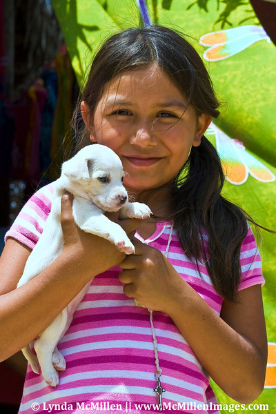 Yelapa girl and her puppy (Puerto Vallarta, Mexico)
