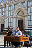 Street Musicians at Santa Croce, Florence, Italy.