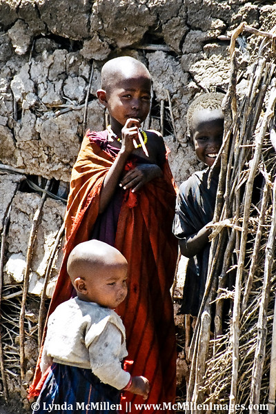 Masai children, Manyatta Village, Tanzania