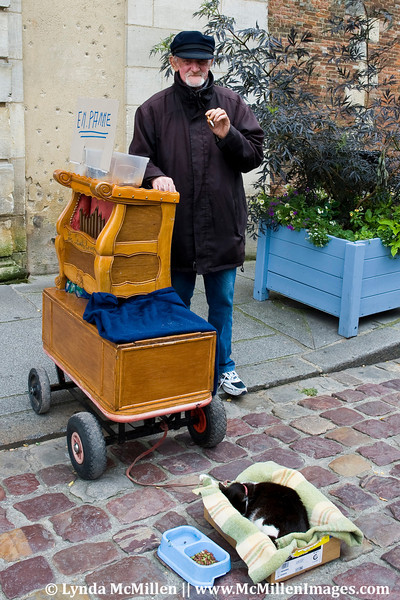 An old salt sea dawg and his cat. Honfleur, France.
