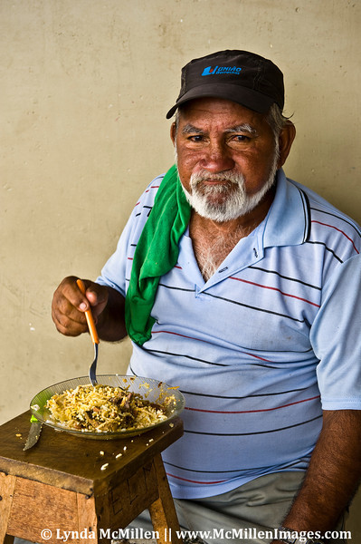 Man and his Mid-day Meal, Manaus, Brazil
