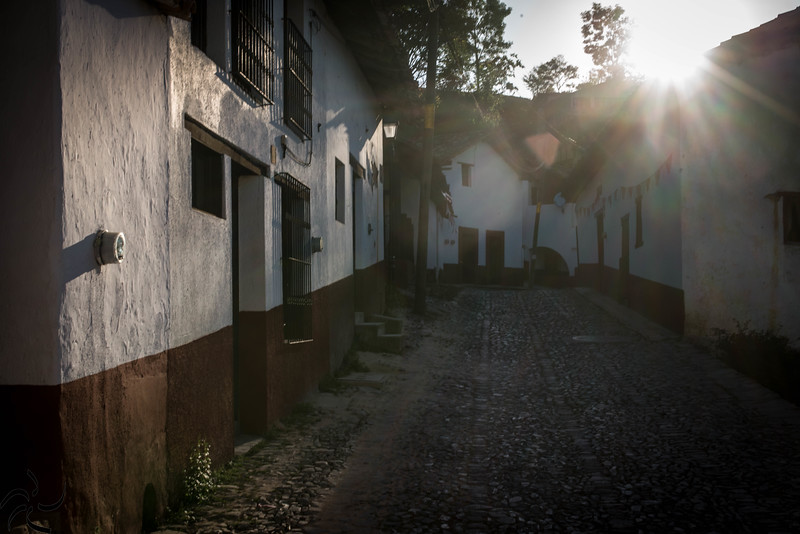 street in the afternoon sun - San Sebastian del oeste - Mexico