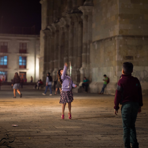 Players at the main square - Oaxaca - Mexico