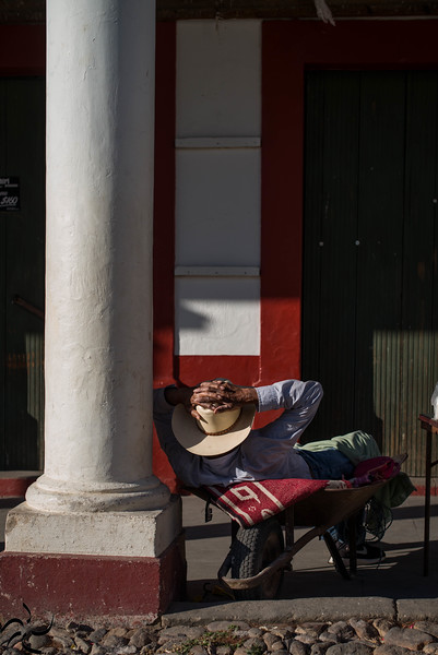 Nap time for street seller, San Sebastian del Oeste - Mexico