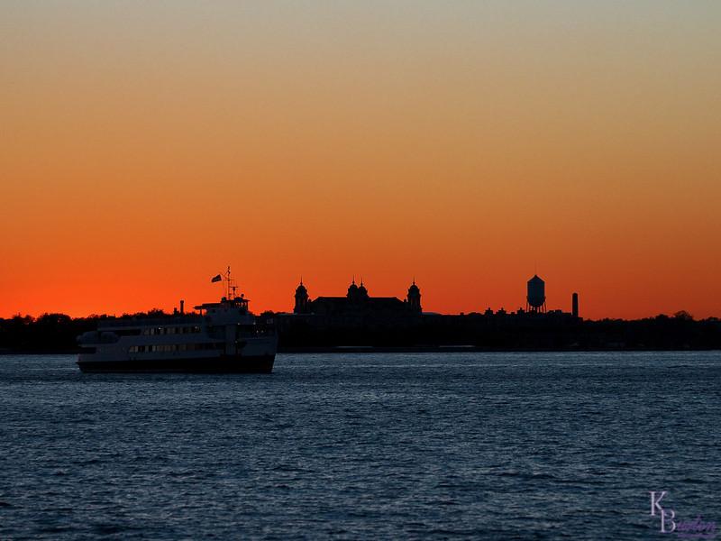 DSC_2031 sunset over Ellis Island
