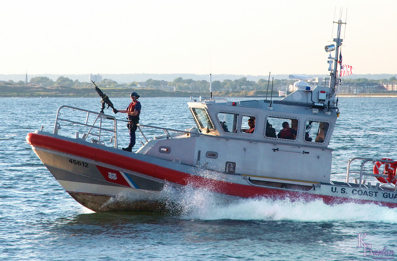 A frequent companion on our trips across the bay since Sept. 11th, the Coast Guard is here ever ready.