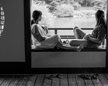 Finding myself in rather tight confines at the Japanese Gardens in Brooklyn when I came across this pleasent scene, I wanted a lens with a field of view wide enough to take in both women, but not all the people around them, and a nice wide aperture to throw the background completely out of focus. The only lens I had in my bag today that would do that, was my 35mm F1.4.  An old manual focus lens, it still takes great images now on my D300s, like it did 30 years ago on my old Nikon F3. Boy I can't wait to see the images I get with it when I finally buy a D810.