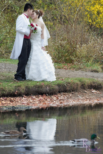 wedded bless in the fall