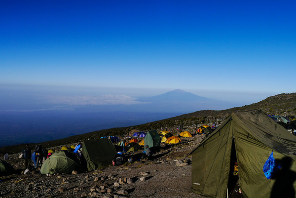 Mt Meru visible in the distance