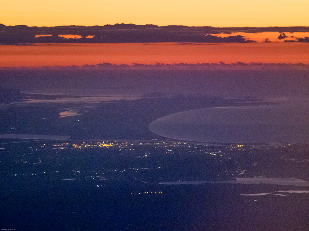 Sunrise on the approach