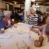 Rogers Hall resident Mary Dudek of Lowell celebrates her 103rd birthday. Her actual birthday was March 20. From left, Beatrice McLuin, Josephine Kniaziuk, Mary Dudek, Bea Callahan and Pamela Mondazzi.  (SUN/Julia Malakie)