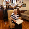 Rogers Hall resident Mary Dudek of Lowell celebrates her 103rd birthday. Her actual birthday was March 20.  (SUN/Julia Malakie)