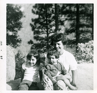 1957-01-kathie-mich-n-mom-in-the-woods