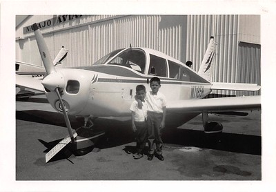1960s Matt & Joe at a small Northern CA small airport