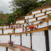 The park-monument for memory is constructed on a hill.