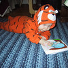 March - Lauren in tiger suit
