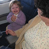 Lauren, riding first class with silver elite Jeanette