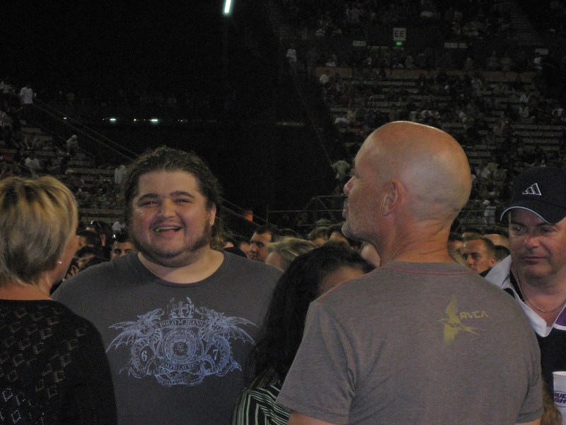 Hurley and John Locke at U2 concert in Honolulu